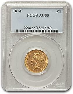 1874 gold dollar