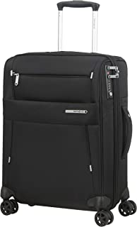 Samsonite Duopack - Spinner S extensible, Bagage cabine, 55 cm, 42/49 L, Noir (Black)