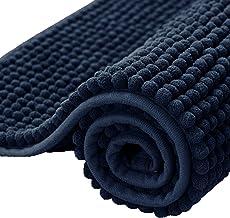 subrtex Bathroom Rugs Chenille Soft Short Plush Bath Mat Non-Slip Water Absorbent Shower Mat Quick Dry Machine Washable(Na...