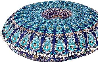 Plush Decor Large Floor Cushion Cover Kids Meditation Mandala Pillow Dog Seating Yoga Ottoman Bohemian Throw Decorative Zipped Pouf