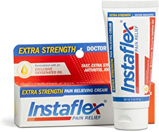 Instaflex Extra Strength Pain Relief Cream, with 2X The Pain-Fighting Ingredients, Rubs Out Your Toughest Muscle and Joint Pain (2 oz)