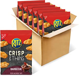 RITZ Crisp and Thins Barbecue Chips, 6 - 7.1 oz Bags