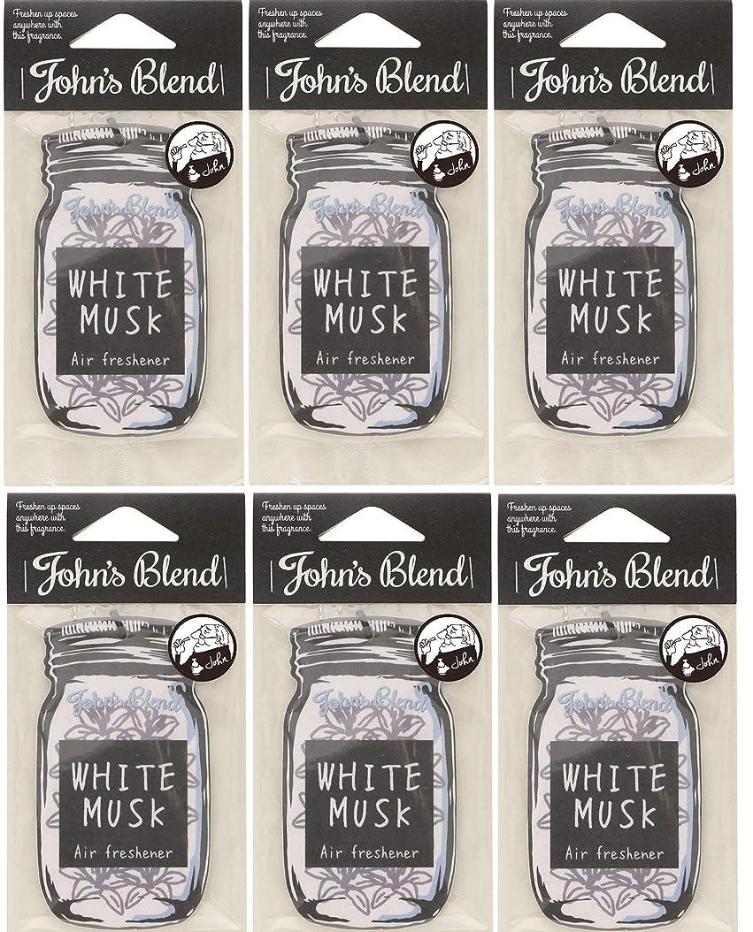 ベーシック音インフルエンザ【6個セット】John'sBlend エアーフレッシュナー WHITEMUSK ノルコーポレーション OAJON0101