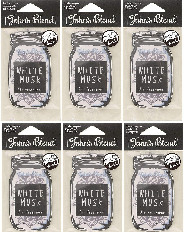 スキム割り当てるキャンディー【6個セット】John'sBlend エアーフレッシュナー WHITEMUSK ノルコーポレーション OAJON0101