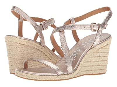 Calvin Klein Bellemine Espadrille Wedge (Soft Platinum) Women