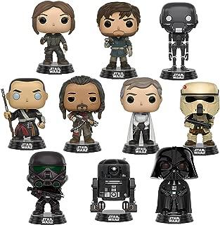 Pop! Star Wars: Rogue One Jyn Erso, Captain Cassian Andor, K-2SO, Chirrut Îmwe, Baze Malbus, Orson Krennic, Scarif, Death Trooper, Darth Vader and C2-B5 Set of 10