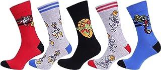 5x Calcetines de varios colores para hombre Looney Tunes