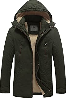 Men's Winter Washed Cotton Sherpa Lined Parka Jacket