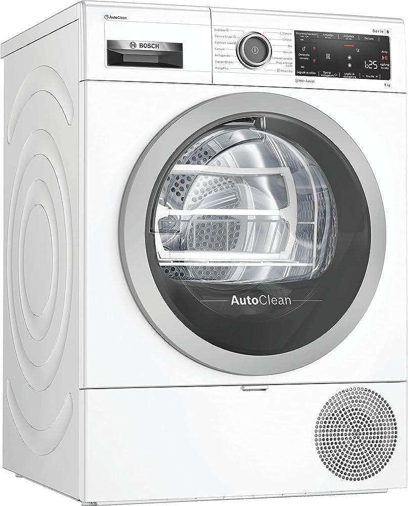Bosch elettrodomestici asciugatrice serie 8, classe a++, da 9 kg, silenziosa,  anti-vibrazioni WTX87KH9IT
