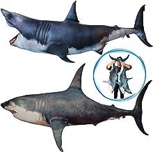 """""""fish&fancy""""全長100cm!超リアル ホホジロザメ 抱きまくら サメ ぬいぐるみ クッション 動物クッション (かみつき)"""