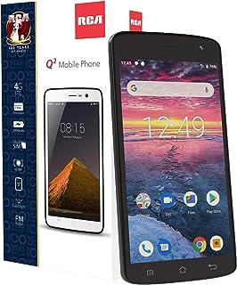 "RCA Q2 Android 9.0 Pie, 5.0"" HD, 4G LTE, 16GB, 8MP 5MP Dual Camera, Dual Sim, Unlocked Smartphone (Black) (Renewed)"