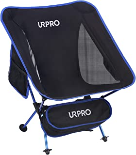 URPRO Outdoor Ultralight Portable Folding Chairs with Carry Bag Heavy Duty 145kgs Capacity Collapsible Chair Camping Foldi...