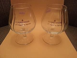 Set of Two (2) Authentic Courvoisier Contoured Snifter Cognac Glasses - Le Cognac De Napoleon