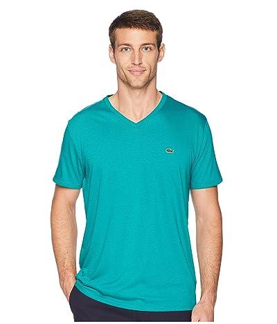 Lacoste Short Sleeve V-Neck Pima Jersey T-Shirt (Bailloux) Men