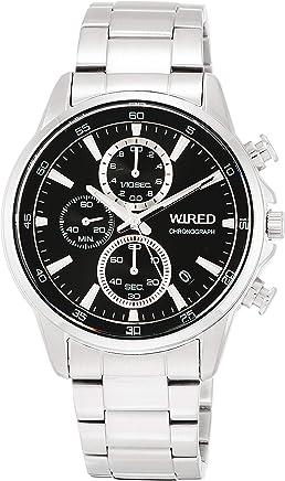 [ワイアード]WIRED 腕時計 WIRED クロノグラフ ブラック文字盤 ハードレックス 10気圧防水 AGAT424 メンズ