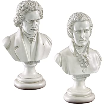 Design Toscano Great Composer Collection: Mozart and Beethoven Sculptures