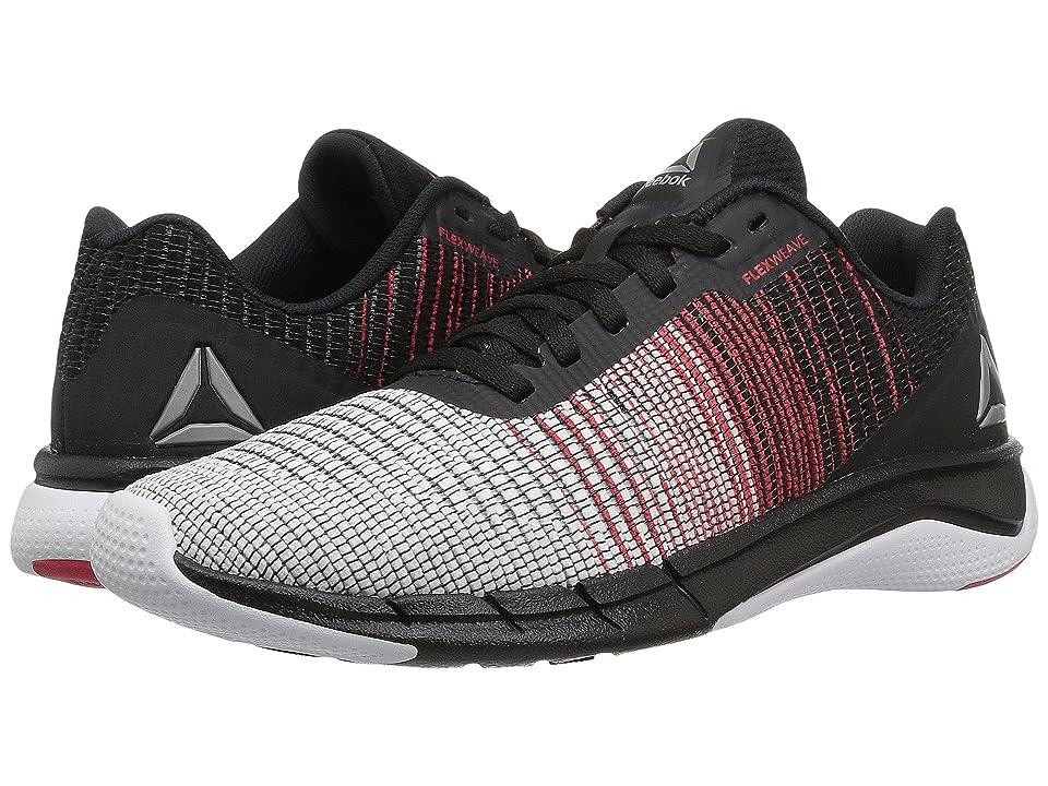 Reebok Kids Flexweave Run (Big Kid) (White/Black/Primal Red) Boys Shoes