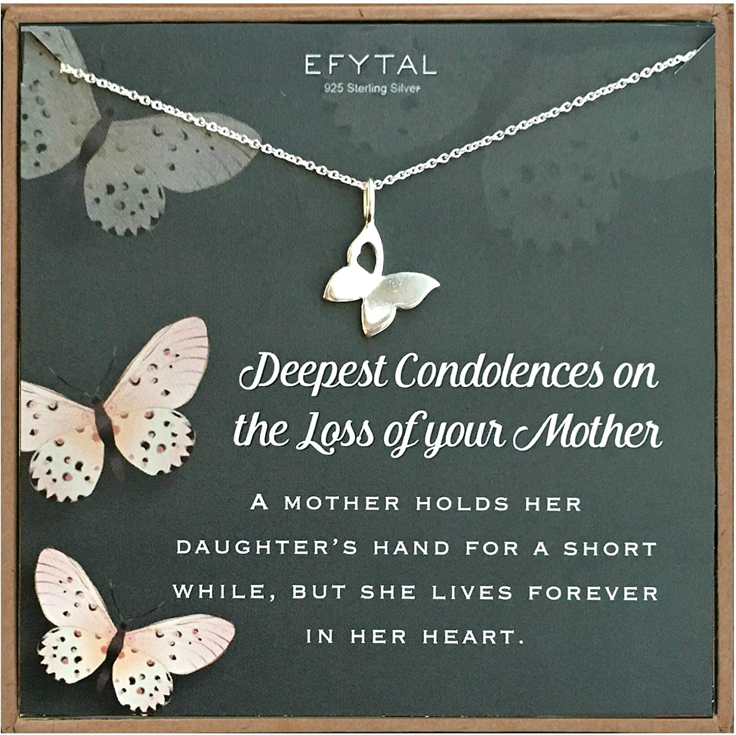 EFYTAL Condolence Gifts 925 Necklace Butterfly Rare Sterling Philadelphia Mall Silver
