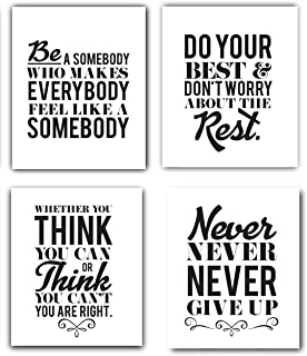 Designs by Maria Inc. Motivational Inspirational Quotes Art Prints | Set of 4 (Unframed) 8x10
