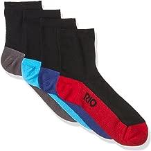 Rio Men's Cotton Blend Active Quarter Crew Socks (4 Pack)