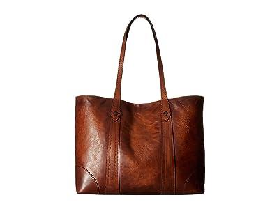 Frye Melissa Shopper (Cognac Antique Pull Up) Hobo Handbags