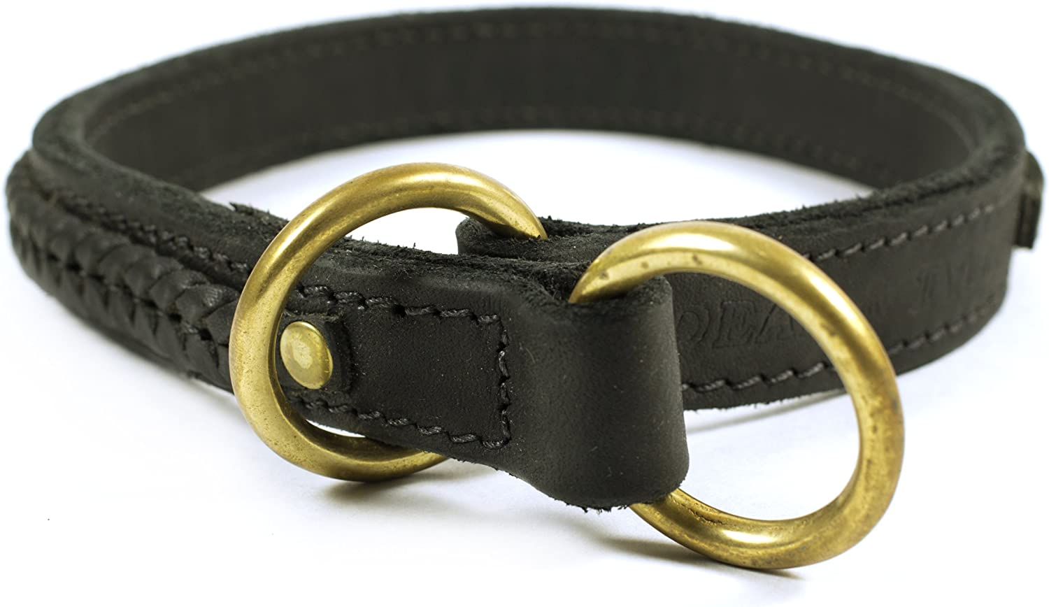 Dean and Tyler CLASSY KIER , Dog Choke Collar with Braided Design and Brass Hardware  Black  Size 20Inch by 1Inch  Fits Neck 18Inch to 20Inch
