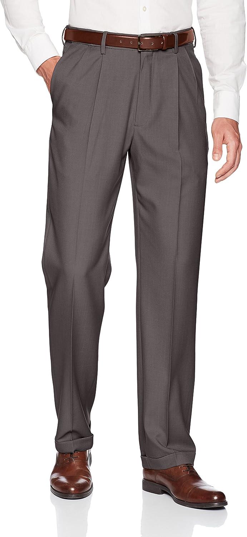 Haggar Premium Confort Robe Pantalon Classique plissé Revers confort ceinture bleu