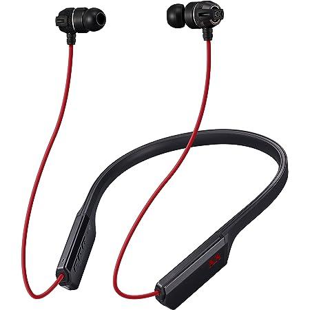 JVC HA-FX33XBT Bluetoothイヤホン XXシリーズ/重低音/メタルハウジング/ネックバンド/14時間連続再生 ブラック&レッド HA-FX33XBT-Z