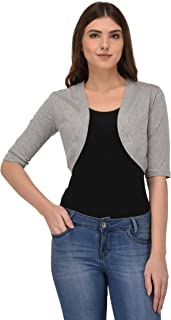 Espresso Women's 3/4th Sleeve Open Shrug