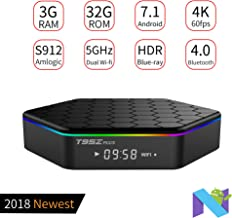 PULIER T95z Plus 3GB RAM 32GB ROM Android 7.1 TV Box S912 Support HDR+ | H.265 | 3D Blue-ray | 4K and 2.4G/5G Wireless Bluetooth 100M/1000M LAN