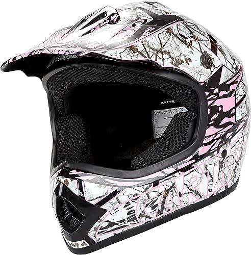 Cartman Youth Motocross Helmet, Offroad Street Dirt Motorcycle Full Face Helmet Pink, Medium