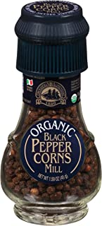 One 1.58 oz Drogheria & Alimentari Organic Black Pepper Corns Mill