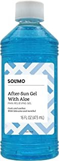 Amazon Brand - Solimo After Sun Gel with Aloe, Lidocaine and Menthol, 16 Fluid Ounce (1 Pack)