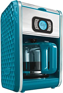 Bella Diamond Collection 12 Cup Programmable Coffeemaker Turquoise