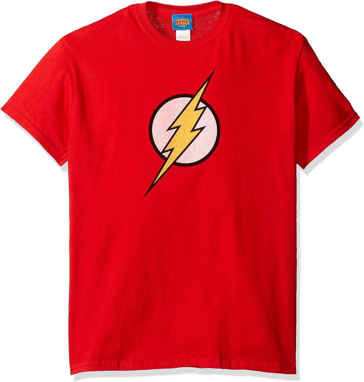 Flash Distressed Logo Boy Kurzarm T-Shirt in Rot