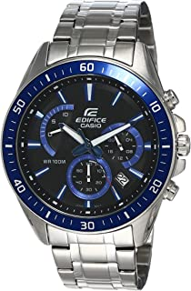 Casio Edifice Watch For Men Black Dial Stainless Steel Chronograph - EFR-552D-1A2V
