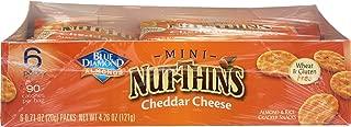 Blue Diamond, Cracker Nut Thins Cheddar Cheese Caddy 6 Count, 0.71 Ounce