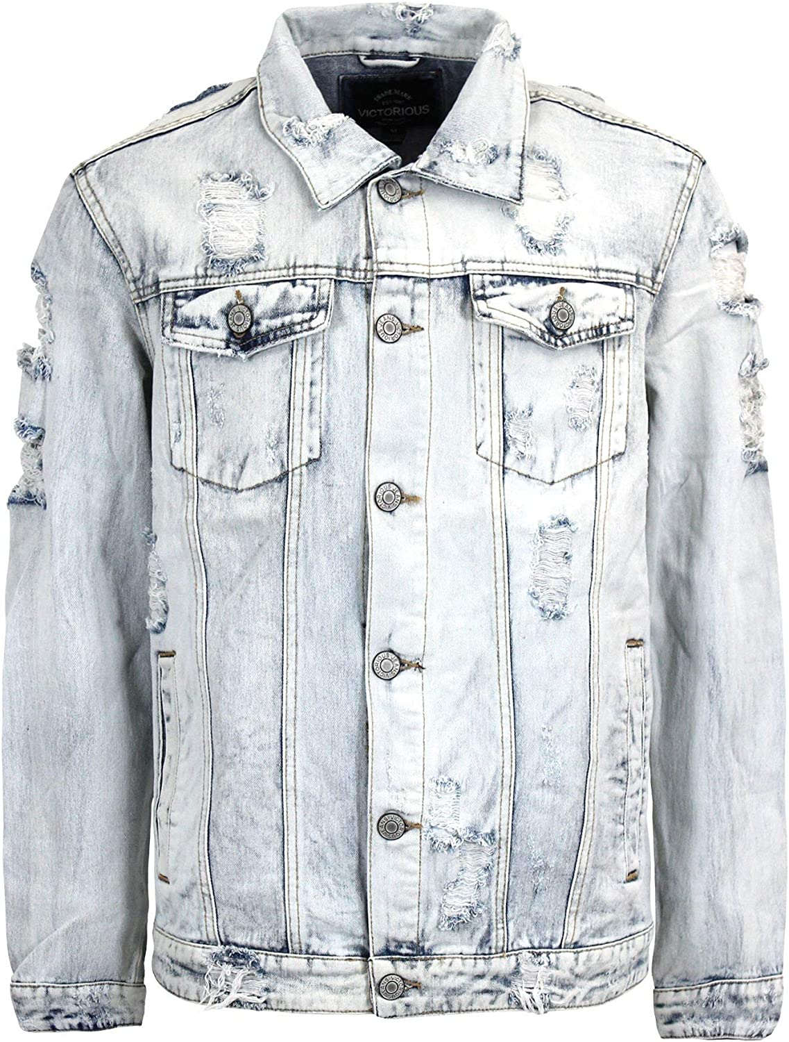 Victorious Challenge the lowest price of Japan ☆ Men's Distressed Jacket Denim Save money