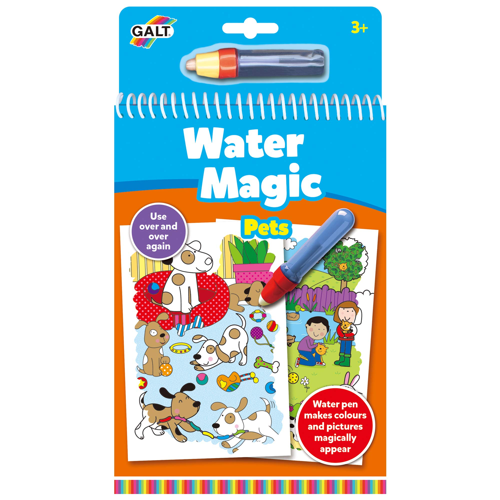 Galt Toys, Water Magic - Pets, Colouring Book for Children, Ages 3 Years Plus