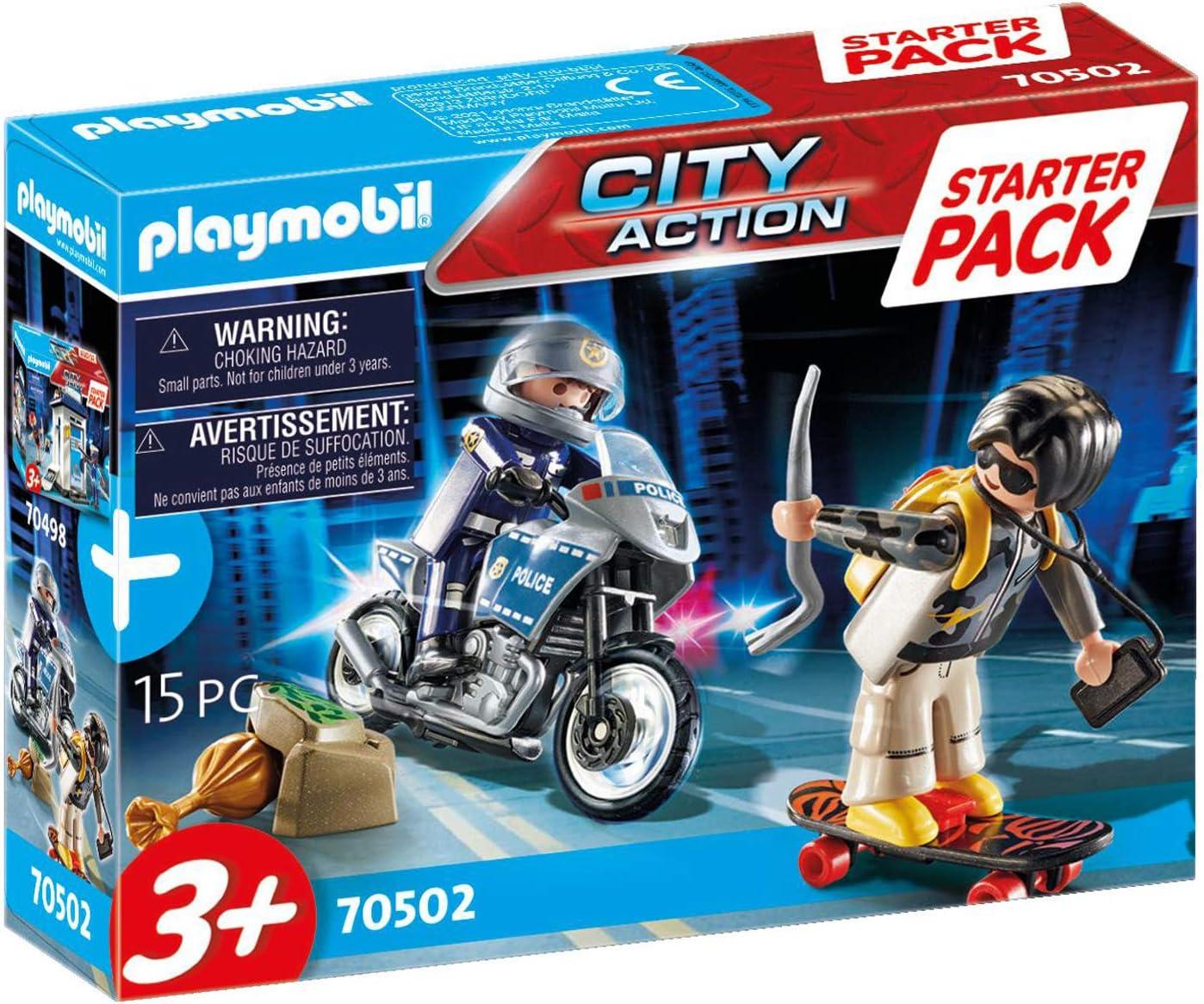 PLAYMOBIL City Action 70502 Erg/änzungsset Polizei F/ür Kinder ab 3 Jahren