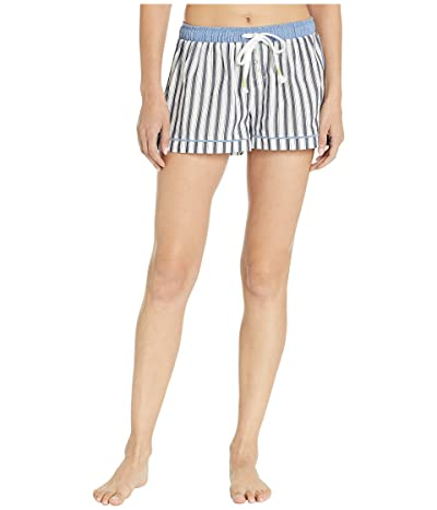 Splendid Striped Sleep Shorts (Vertical Midnight Stripe) Women