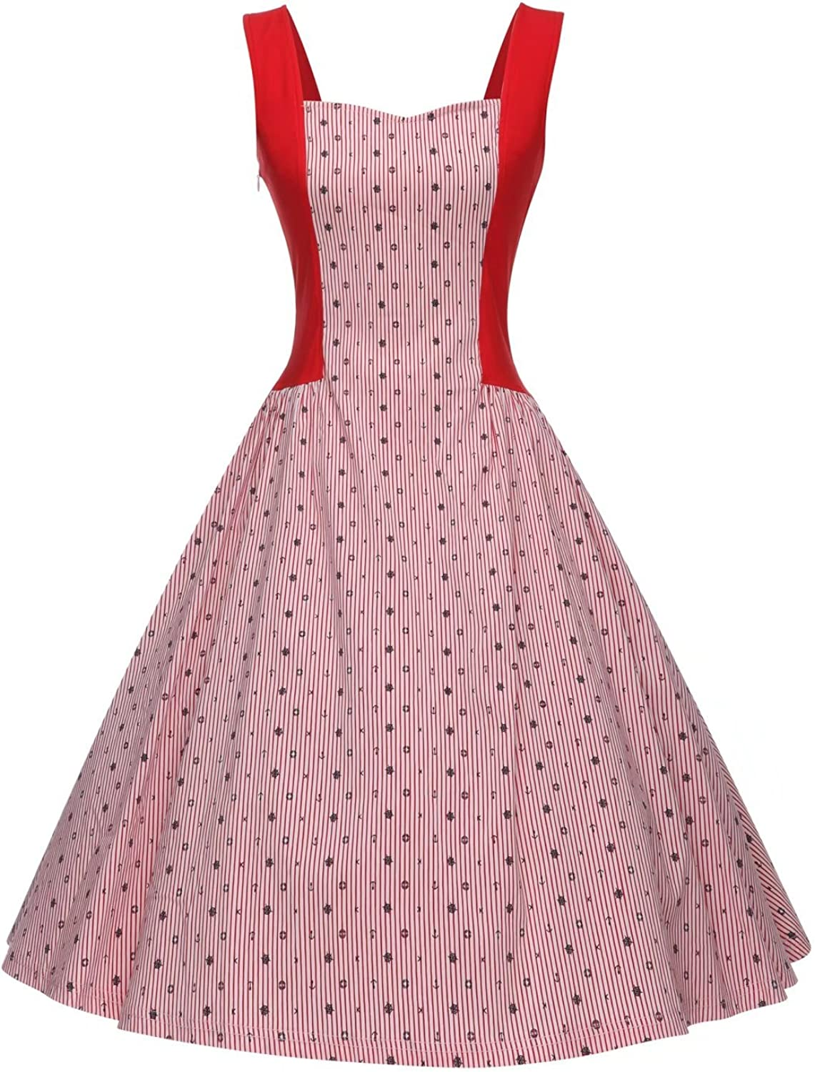 GownTown Women's Sleeveless Vintage Cocktail Party Swing Dress