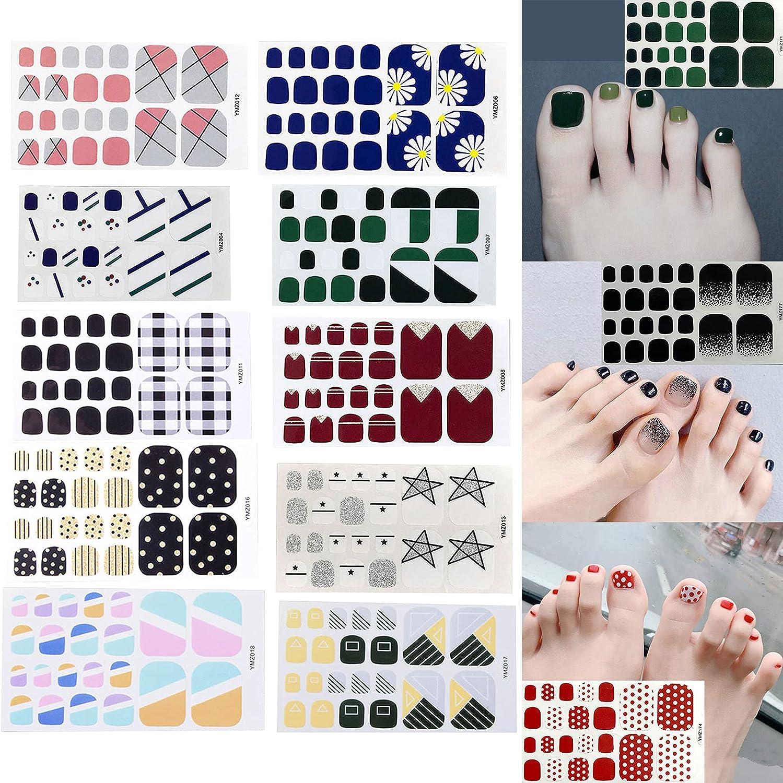 JHKUNO DIY Foot Nail Stickers Wraps Self Full Product Adhesive Super sale Toe