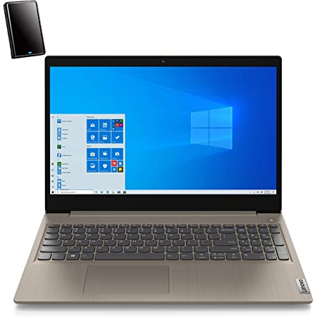 """Lenovo Ideapad 3 15 15.6"""" FHD Business Laptop Computer, AMD Ryzen 5 3500U Quad-Core (Beat I7-7500U), 20GB DDR4 RAM, 2TB PCIe SSD, AC WiFi, Almond, Windows 10 Pro, iPuzzle 500GB External Hard Drive"""