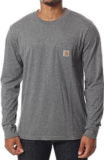 Carhartt Pocket Long Sleeve T-Shirt Medium Dark Grey Heather