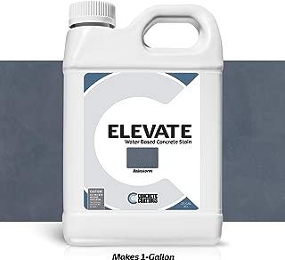 Elevate Concentrate Water Based Concrete Stain, Semi-Transparent Organic Concrete Colorant, for Concrete and Cement, Makes 1 Gallon (200 sq ft), Rainstorm