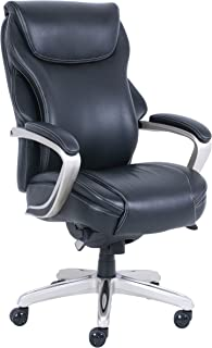LaZBoy CHR10044D Hyland Office Chair, Executive, Black And Silver