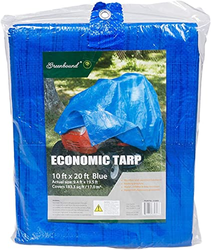lowest 20 ft X 10 2021 ft Waterproof Multi Purpose online sale Blue Tarp Poly Cover for Roof Car sale