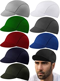 9 Pieces Cycling Cap Under Helmet Bike Hat Polyester Breathable Cycle Cap Sweat Absorbent Bicycle Helmet Liner for Men and...