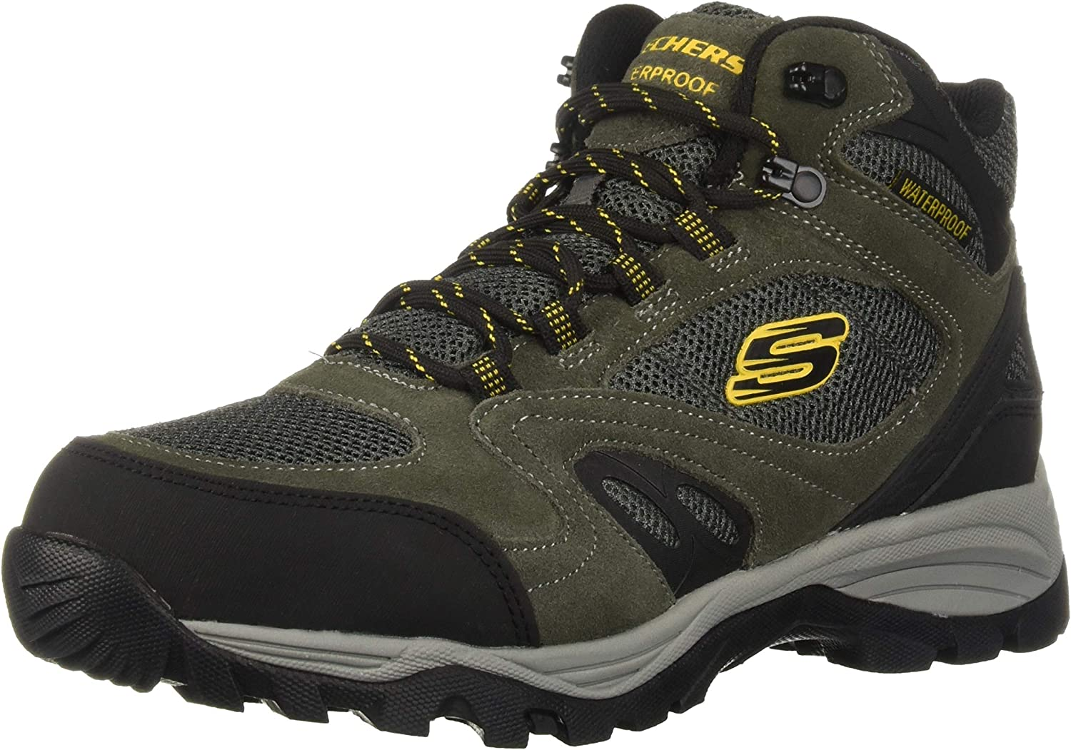 Skechers Men's ROLTON -ELERO Hiking Boot, Charcoal, 9.5 Medium US